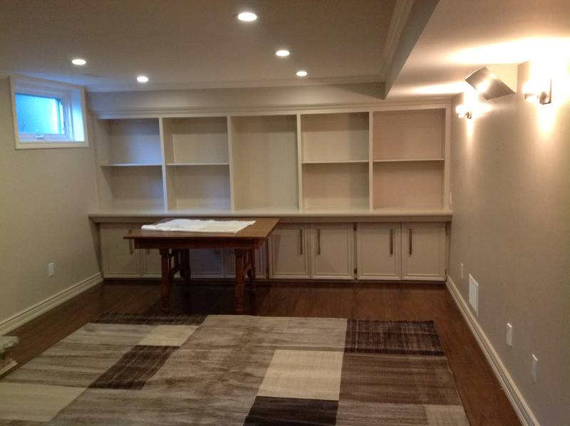 Custom Built-in Wall unit with Shelves and Doors