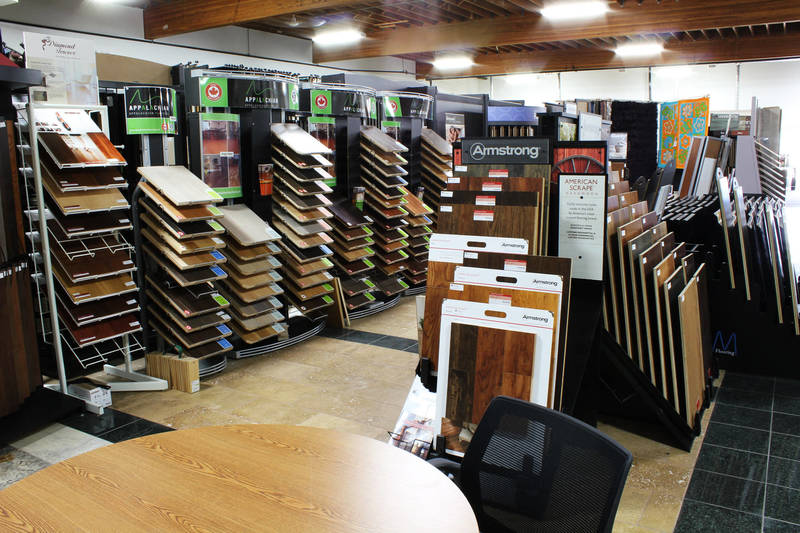 Hardwood / Laminate Section of our Showroom