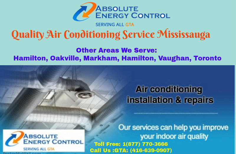 Quality Air Conditioning Service Mississauga | Absolute Energy Control