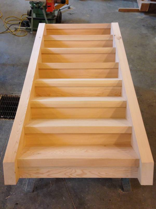 custom timber housed stairs
