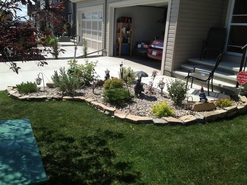 Flower garden area