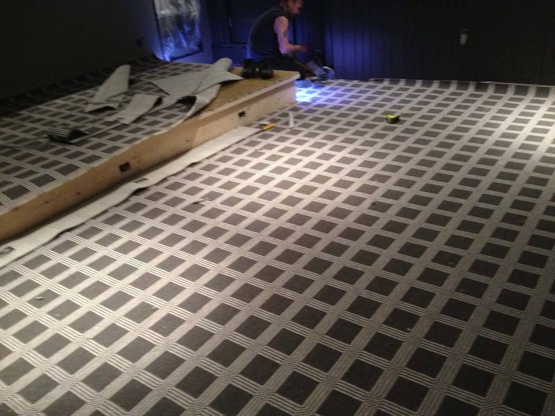 Restaurant Banquet Hall Carpet Installation by Markham Custom Flooring