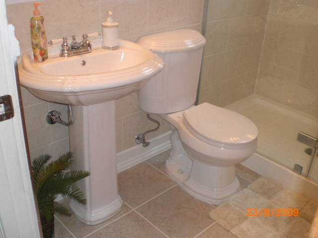 New sink and toilet