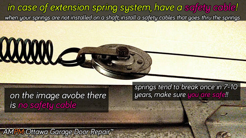 Garage door extension spring