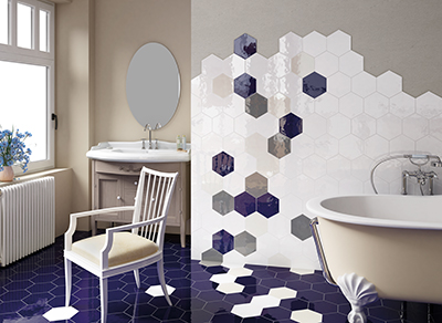 Hexatile is the new benchmark for versatile floor and wall ceramic tile with design visuals