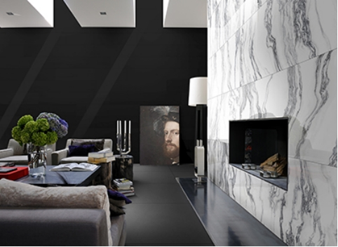 Open leaves your guests in awe with its dramatic reinterpretation of ancient Roman marble.