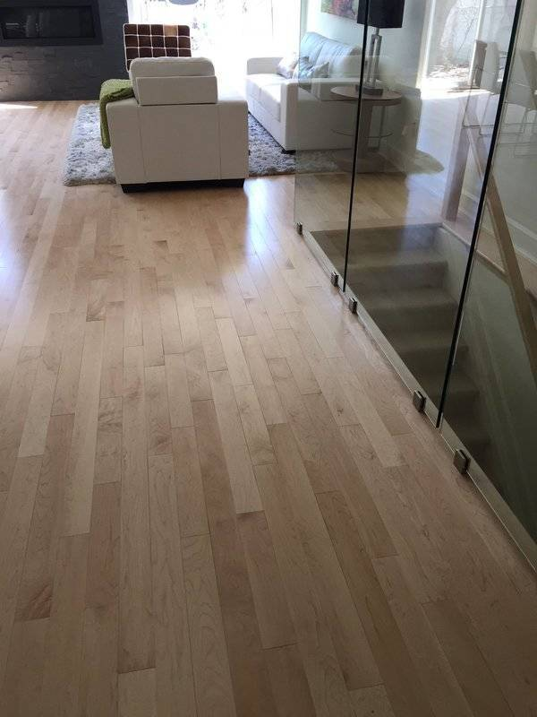prefinished new maple natural solid hardwood floors for a new home for sale.
