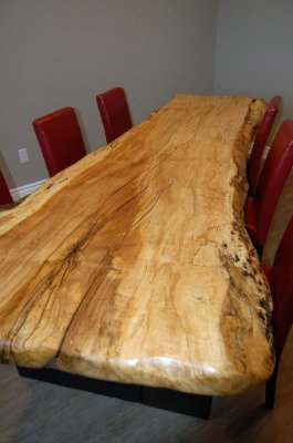 Spalted Maple live edge boardroom table