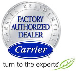We are Carrier Factory Authorized Dealers